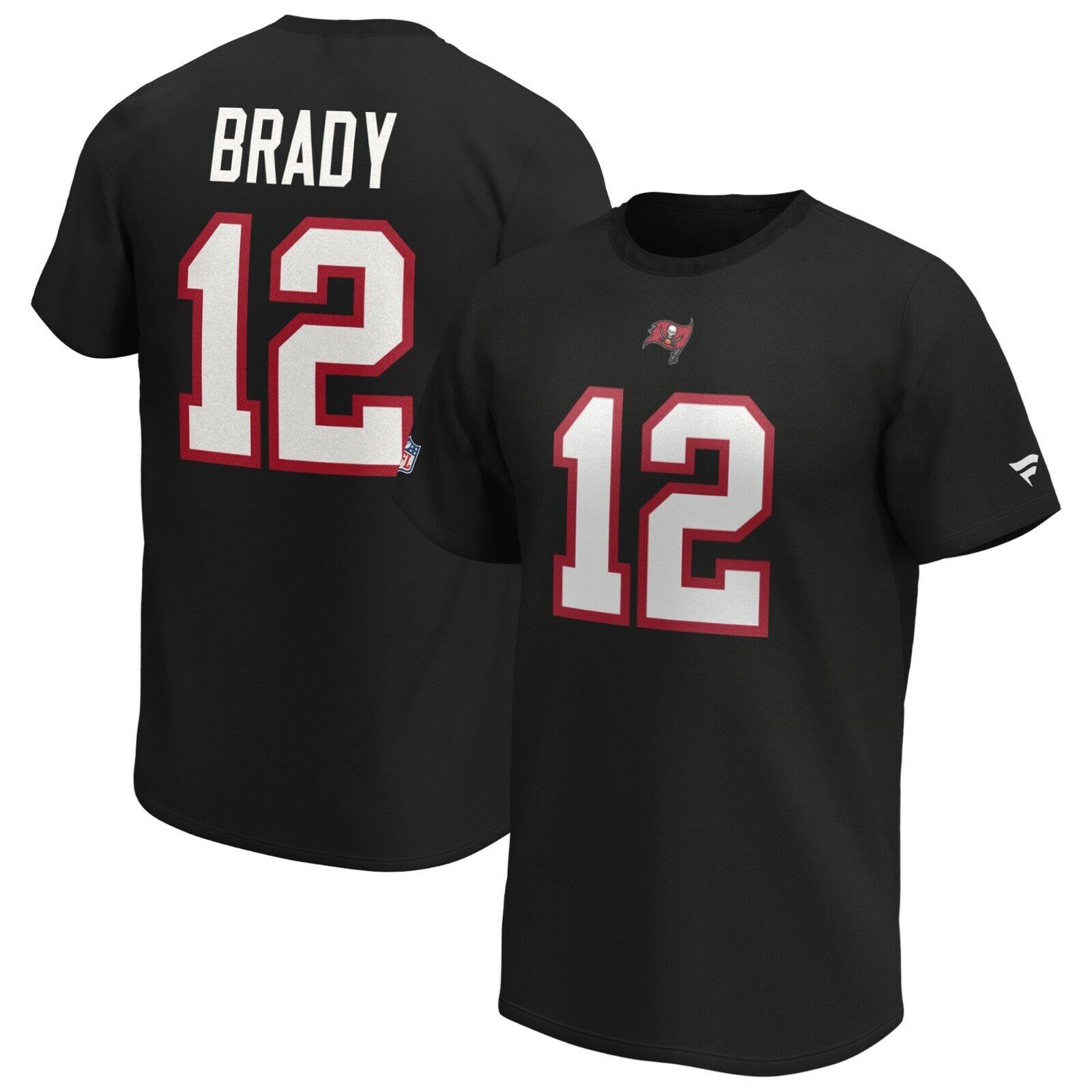 NFL T-Shirt Tampa Bay Buccaneers Tom Brady 12 schwarz Football Trikot Jersey