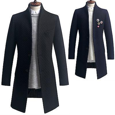 Herren Slim Fit Knit Hälfte Mantel Blazer Jacken Pullover Outwear Top K013 S/M/L