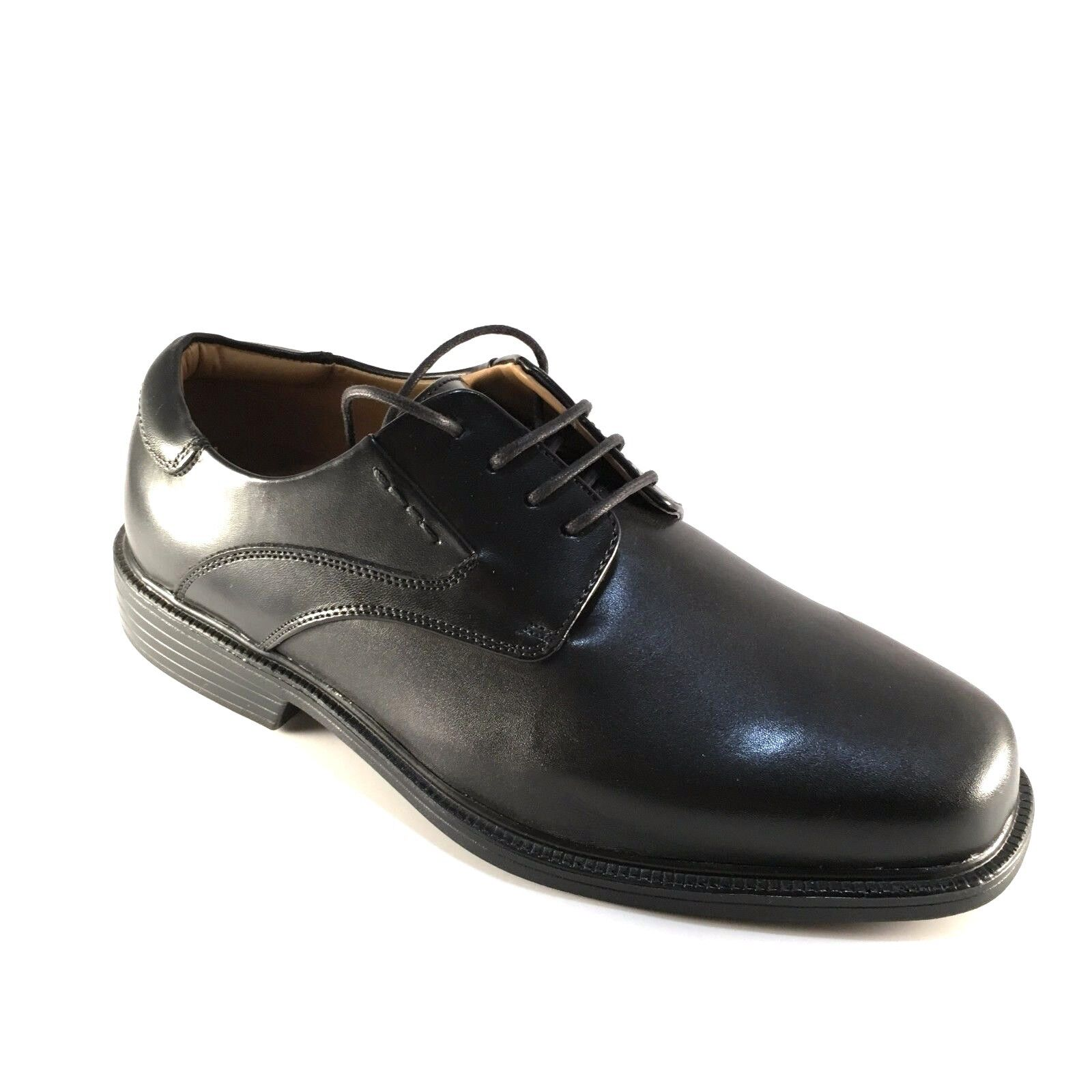 La Milano A1719 Black Leather Comfort Lace Up Extra Wide (EEE) Men's Dress Shoes