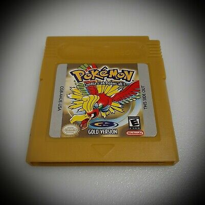 Pokemon Gold Version GameBoy Color GBC (FREE SHIPPING)