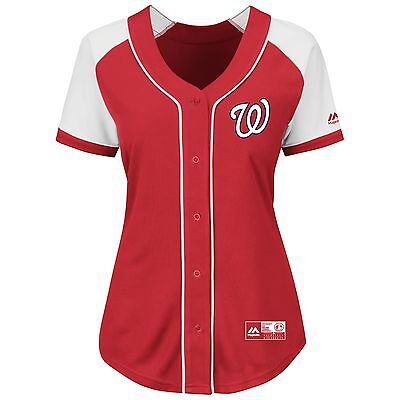 Bryce Harper Washington Nationals Majestic Women's  Fashion Replica Jersey-Red