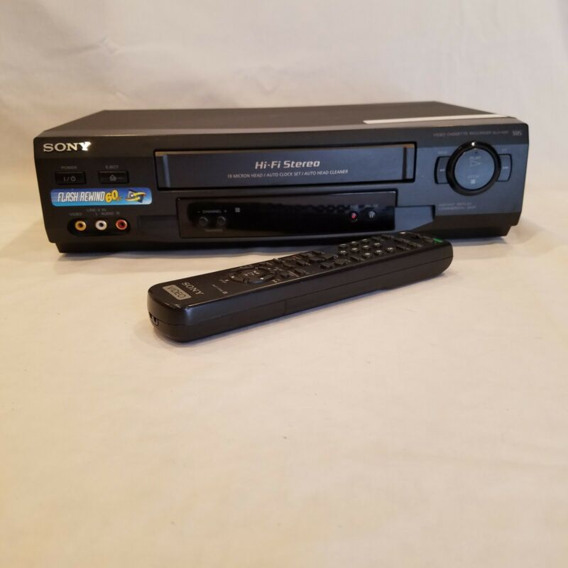Sony VCR SLV-N51 4 Head HiFi Stereo Video  Player VHS Recorder TESTED Remote