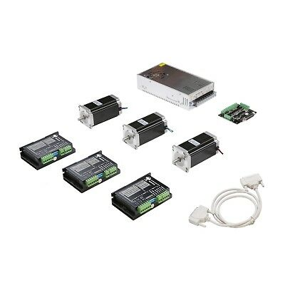 New Arrival 3axis Nema23 Stepper Motor 425oz-in Cnc Controller Kit 23hs9430