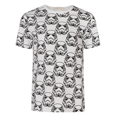 BOYS T SHIRT STAR WARS STORMTROOPER EX STORE SHORT SLEEVE TOP 2-10Y WHITE NEW