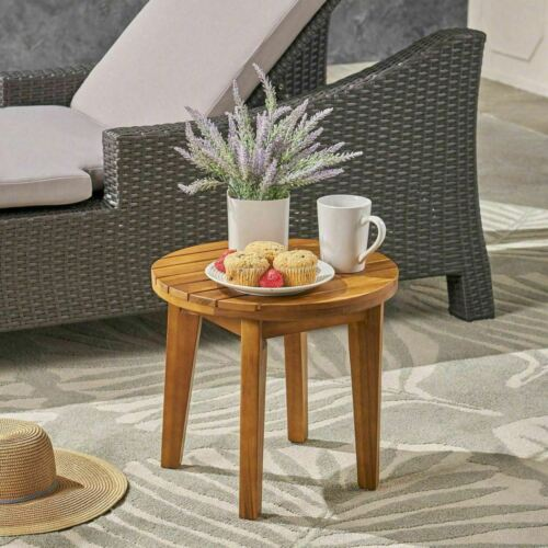 Parker Outdoor 16-inch Acacia Wood Side Table Home & Garden