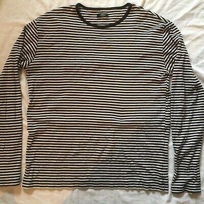 Mads Nørgaard Copenhagen Long Sl. T-Shirt Sweatshirt XLarge Navy Blue Striped
