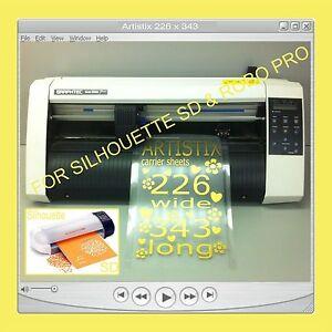2 Carrier Sheet Craft Robo Graphtec Silhouette SD Cutting Mat Cards Plotter Cut