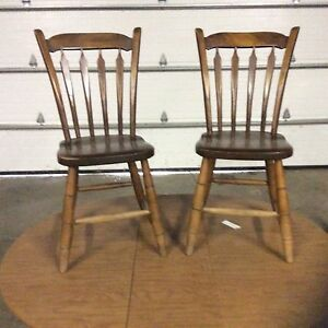 Pair of Arrow  Back  Chairs
