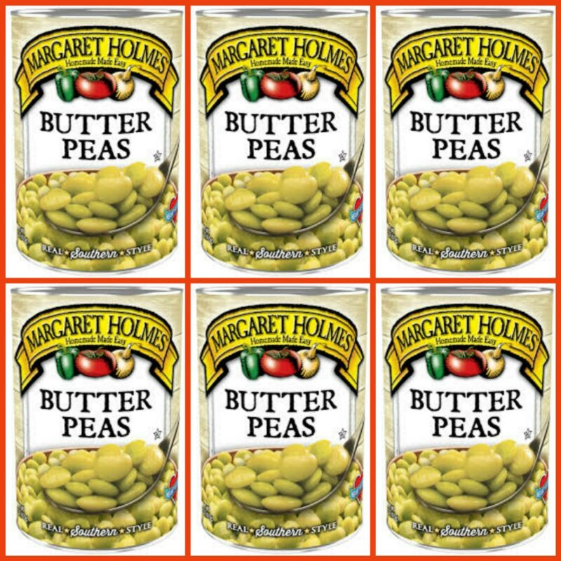 6pk Margaret Holmes BUTTER PEAS 15oz per can Southern Style