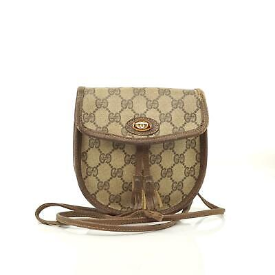 Auth Gucci Gg Crossbody Bag Vintage #3685V15