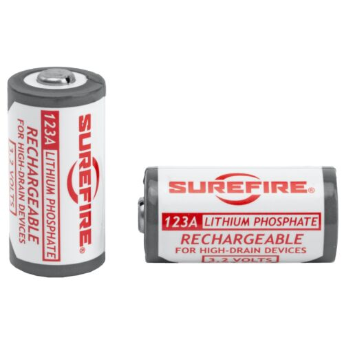 SureFire 123A Rechargeable Lithium Phosphate Battery 2 Pack CR123A SFLFP123
