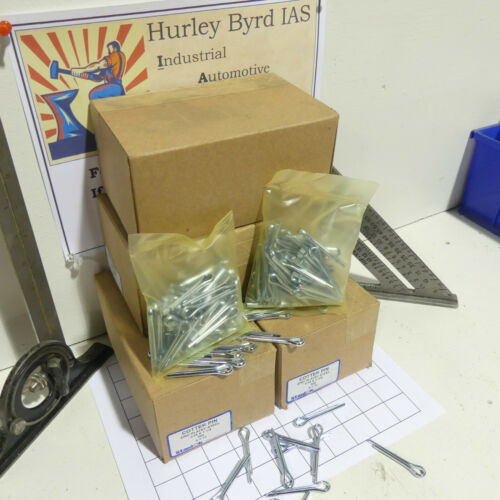 "Box of 500 Stanlok Heavy Duty 3/16"" x 1 1/4"" Zinc Plated Cotter Pins"