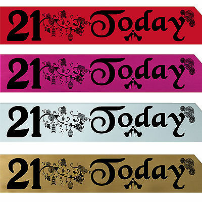 BIRTHDAY GIRL 21 ST PARTY SASH NIGHT OUT ACCESSORY FUN GIRLS SASHES TWENTYFIRST (21st Birthday Girl Accessories)