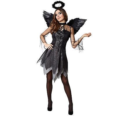 Damen Kostüm Sexy Engel Vampir Kleid Horror Halloween Fasching Karneval