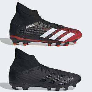 adidas Predator 20.3 MG FG AG Mens Football Boots Black Red SIZE 6 8 9 10 11 13
