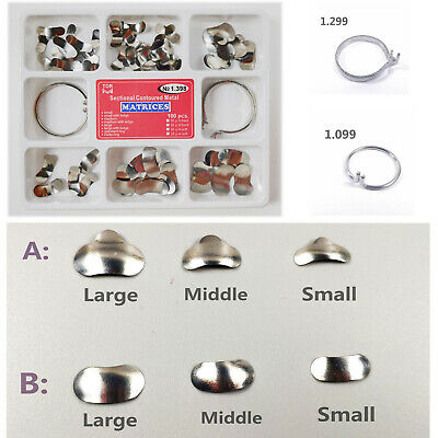 Dental Matrix Bands Sectional Contoured Metal Matrices Deltastandard Clasp Ring
