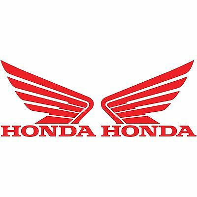 2 HONDA WING LOGO RED DECALS MOTORCYCLE RACING CAR STICKER RIGHT & LEFT SET TWO