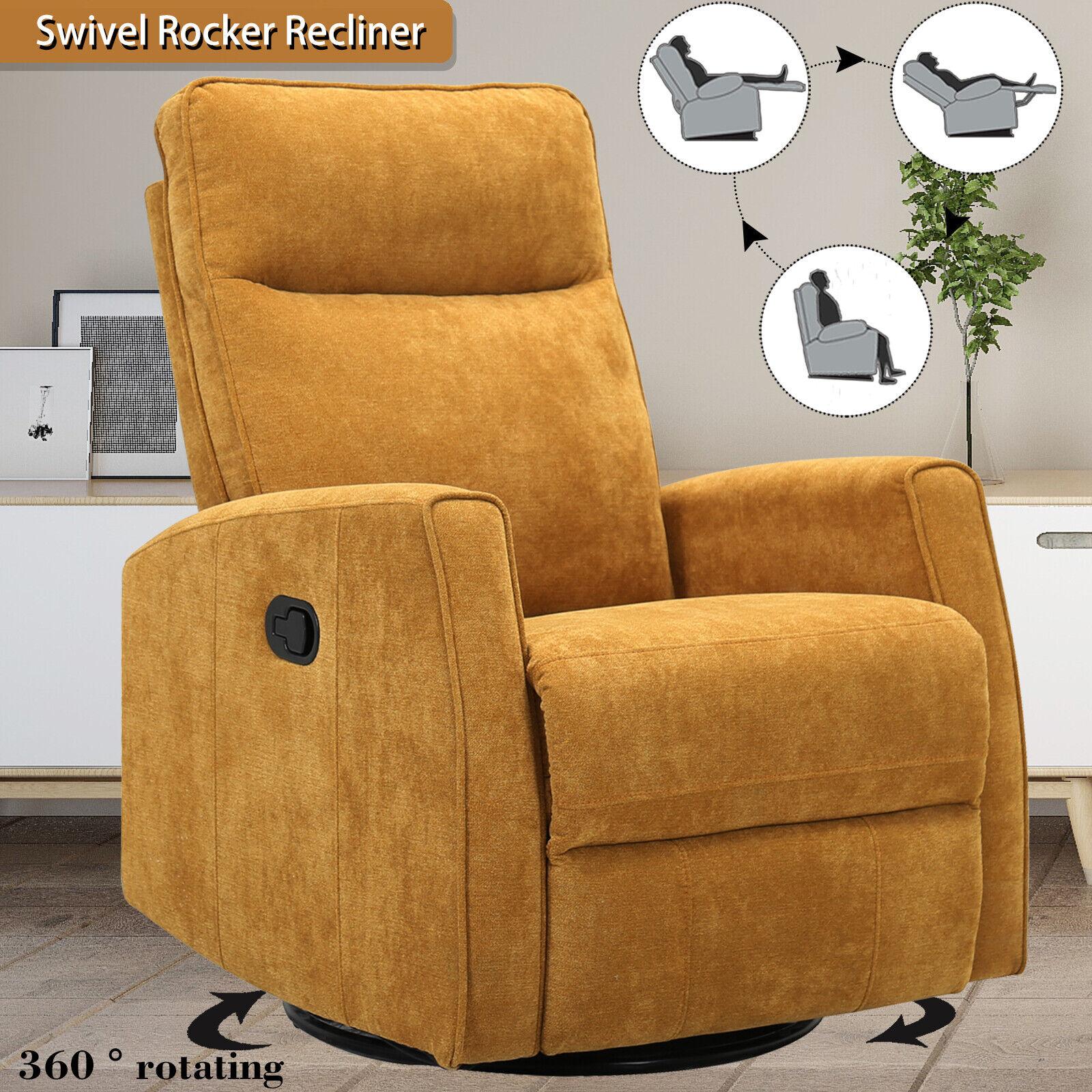 Swivel Rocker Recliner Chair Baby Nursery Rocking Chair Sofa