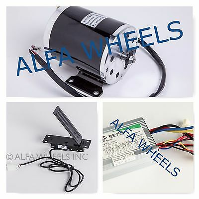 800 W 36 V electric motor MY1020 kit w base speed control & Foot Pedal Throttle