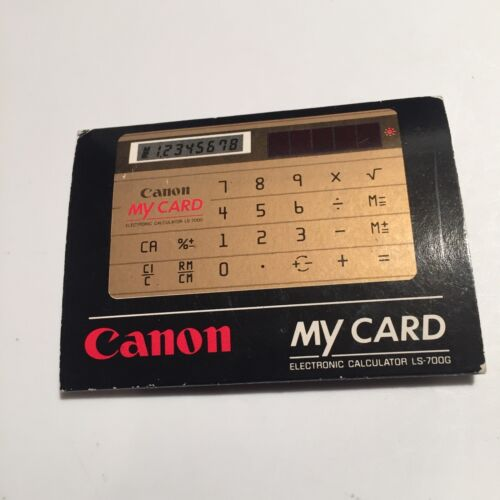 Canon My Card Electronic Calculator LS-700G vintage 1983 new