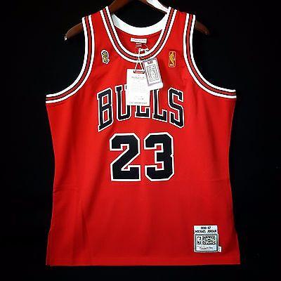 df3a1b4bc9dd 100% Authentic Michael Jordan Mitchell Ness 96 97 Finals Bulls Jersey Size  48 XL