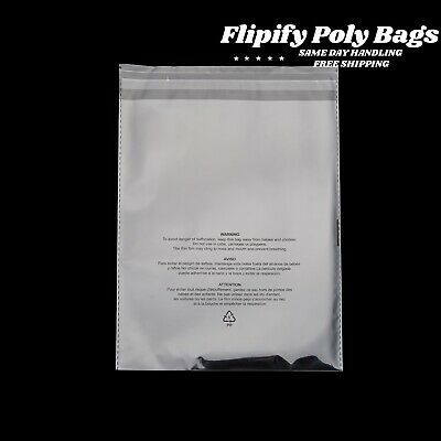 Clear Poly Suffocation Warning Self Seal Fba Bags - 6x9 8x10 9x12 11x14