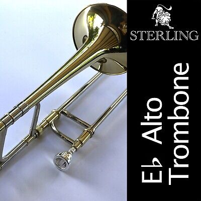STERLING SWTM-1001 Eb ALTO TROMBONE • High Quality Brass • Brand New With Case Eb Alto Trombone