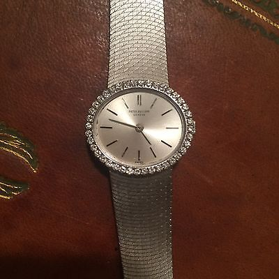 Patek Philippe Solid 18K White Gold and Diamond Ladies Dress Watch  - circa 1960