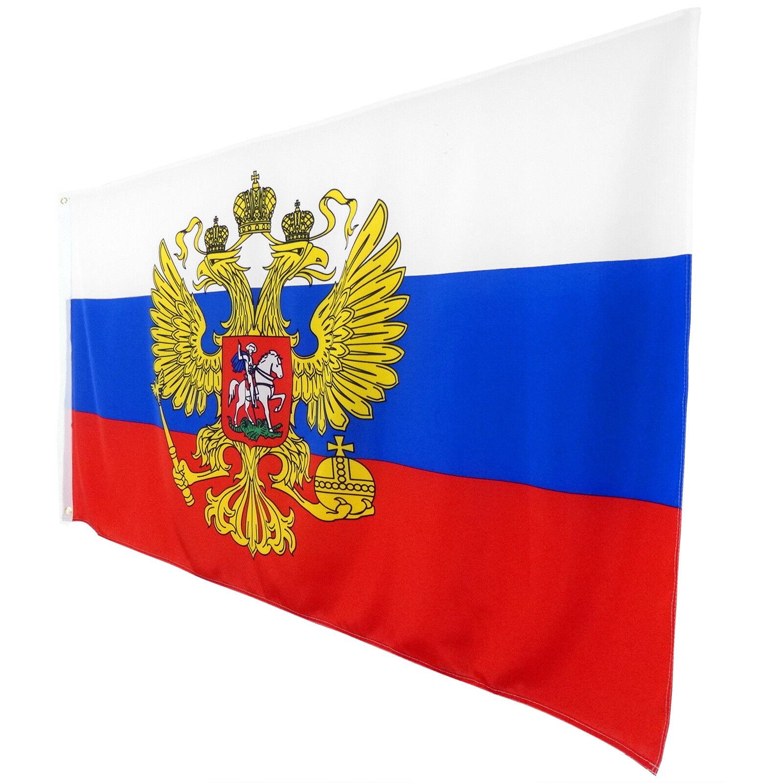 Fahne Flagge Russland mit Adler 90 x 150 cm