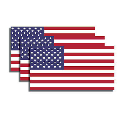 3 pack 3M USA American Flag Sticker Decal Army Vavy Military Marines - Flag Stickers