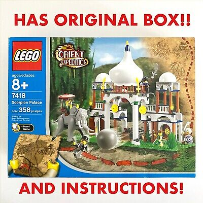 Vintage Lego 7418 w/ BOX + Manual Scorpion Palace Taj Mahal Elephant