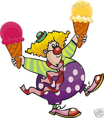 Ice Cream Cones Clown Decal 14 Concession Restaurant Food Menu Vinyl Sign