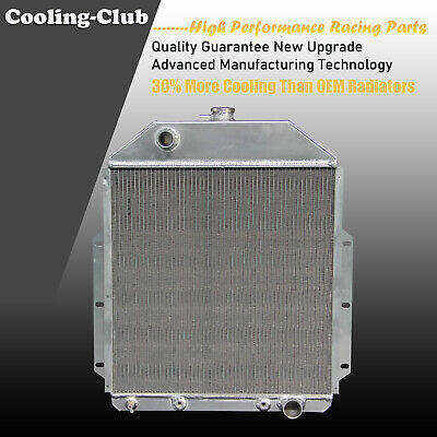 Fit 42-52 Ford F Series F1 F2 F3 FOR CHEVY ENGINE ONLY 3 Row Aluminum Radiator
