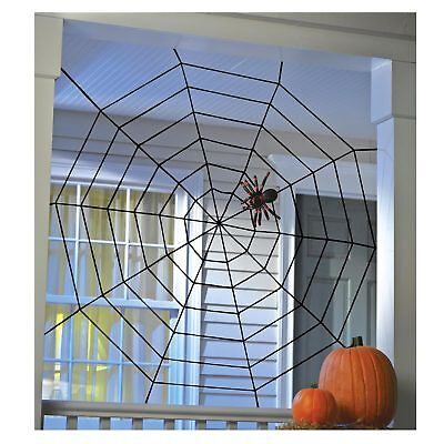 Wall Window Black Spiderweb Halloween Haunted House Home Indoor Outdoor Decor](Outside Home Halloween Decorations)