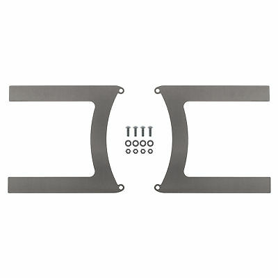 REVOTEC ELECTRIC FAN BRACKET SET PAIR 330MM MILD STEEL - RFB330MS