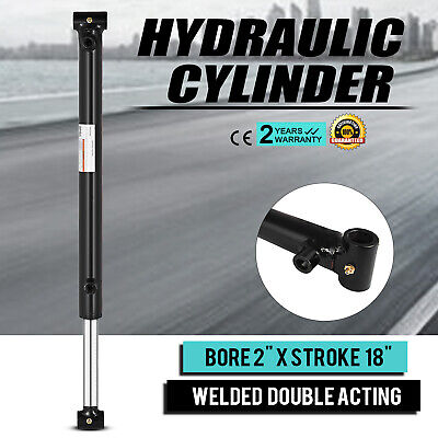 Hydraulic Cylinder Welded Double Acting 2 Bore 18 Stroke Cross Tube 2x18