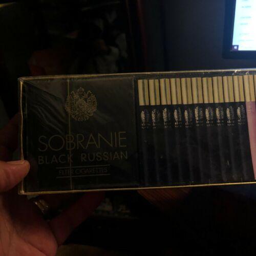 RARE 1963 NOS Mint Carton SOBRANIE BLACK & GOLD & Cocktail CIGARETTES