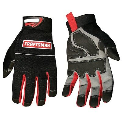 Craftsman Utility Gloves Carpentry Work Durable Protection Padded Grip - Large
