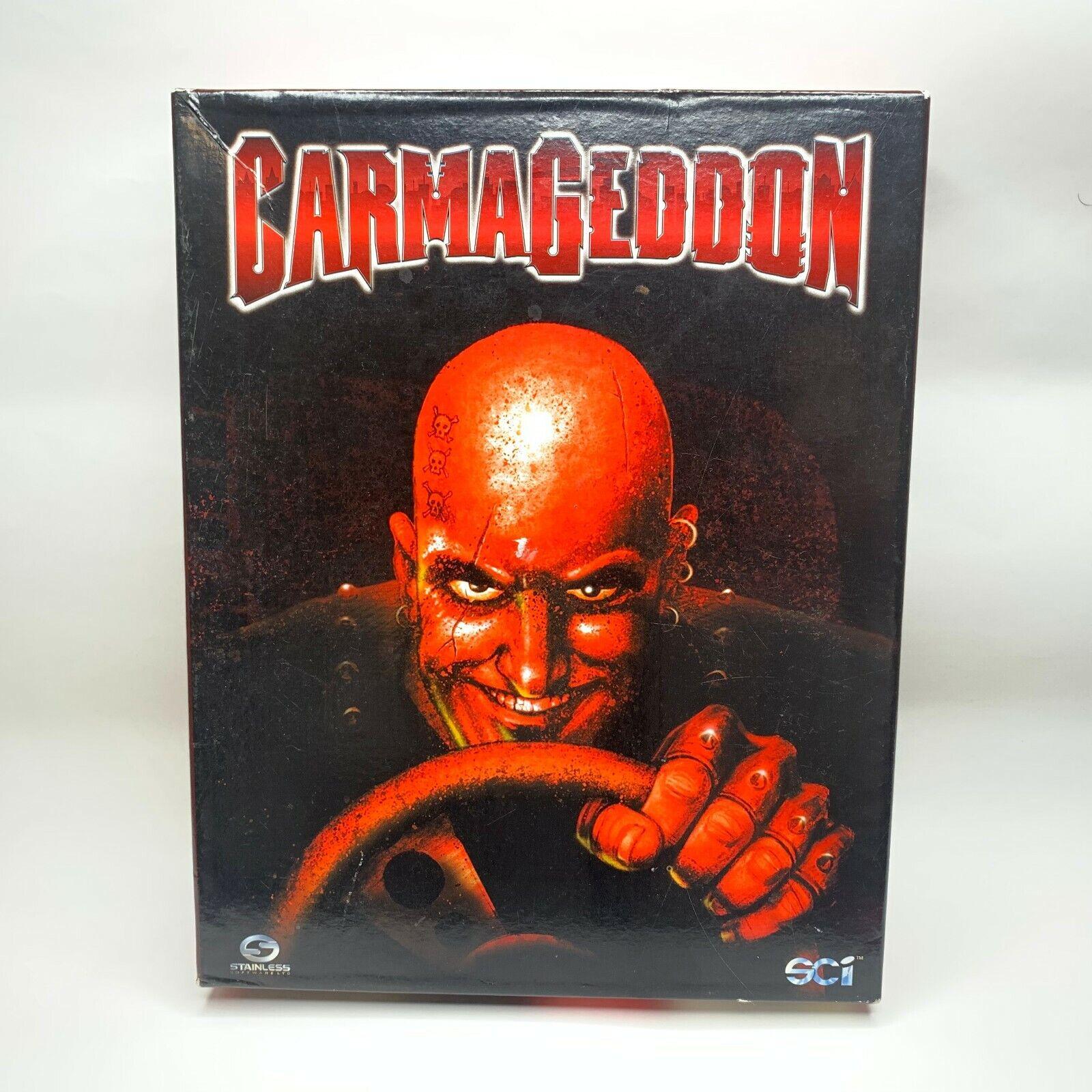 Computer Games - Carmageddon (Mac, 1997) Big Box Computer Game CD-ROM