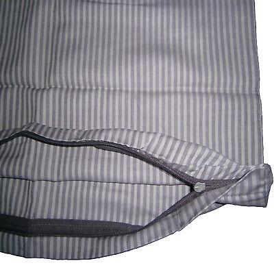 Gestreiften Stoff Kissen (2er Edel Satin Kopfkissenbezug Kissenbezug 80x80 cm Gestreift 100% Baumwolle)