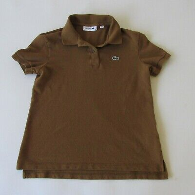 Lacoste Women's Polo Shirt in Brown Classic Fit Size 36 XS