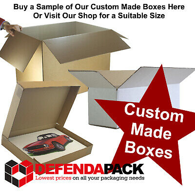 CUSTOM MADE TO ORDER CORRUGATED CARDBOARD POSTAL STORAGE BOXES ALL SIZES DESIGNS