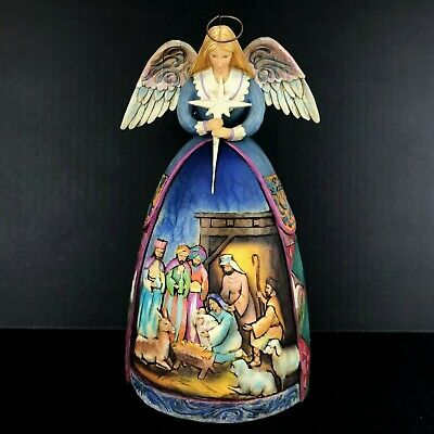 Jim Shore A Star Shall Guide Us Angel Nativity Gown Figurine Heartwood Creek  A Star Shall Guide