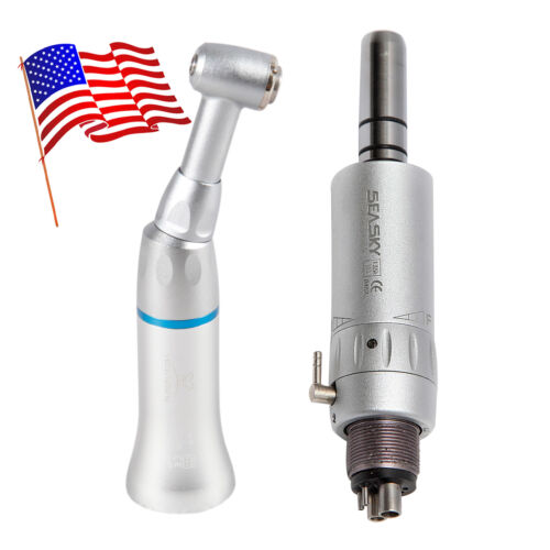 Dental Slow Low Speed handpiece Contra Angle hand piece + 4hole E-Type Air Motor