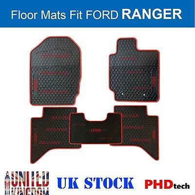 Premium Quality All Weather Rubber Floor Mats FORD RANGER PX1 PX2 MK3 Double Cab