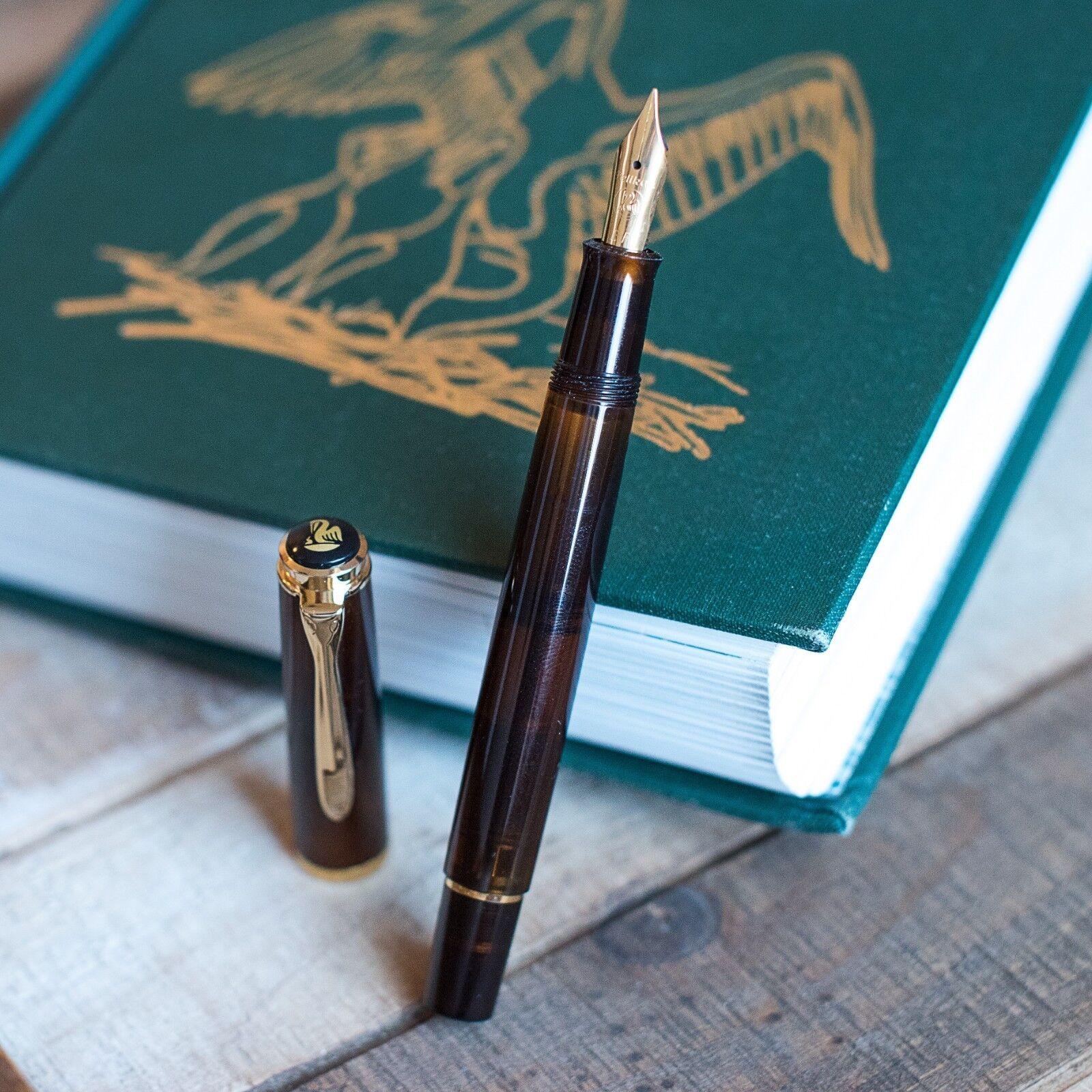 Pelikan Classic M200 Fountain Pen Smoky Quartz Demonstrator Medium Point 805155