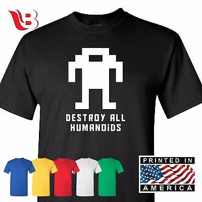 Nerd T Shirts (Berzerk Robot T Shirt Retro Video Game Arcade Gamer Geek Nerd Tee Funny)