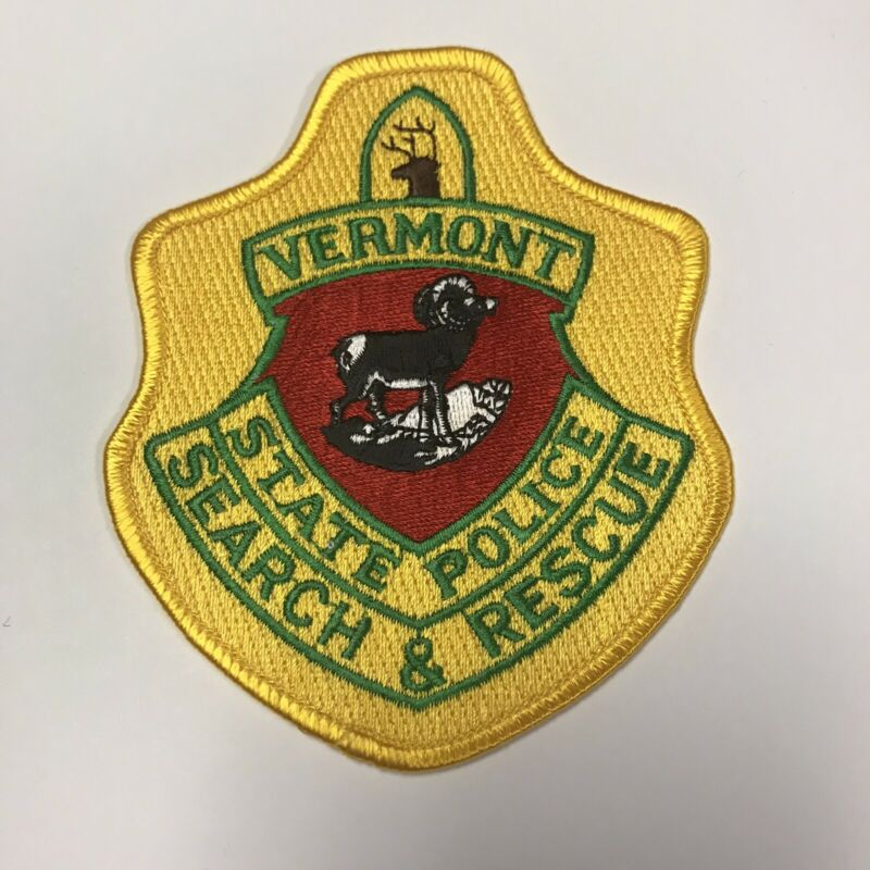 Vermont State Police Search & Rescue Unit Patch