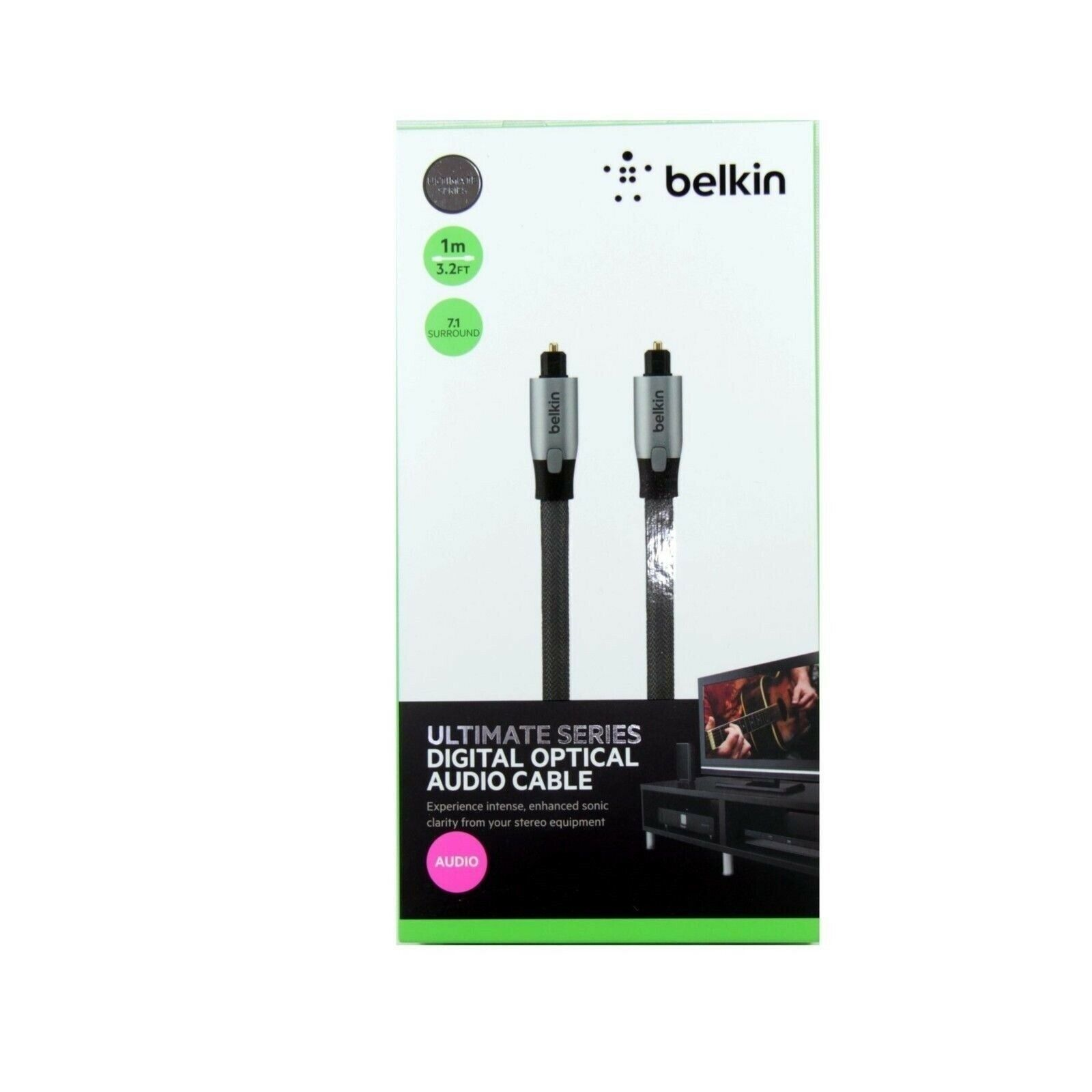 BELKIN CABLE DIGITAL OPTICAL ULTIMATE POF AUDIO TOSLINK ADAP