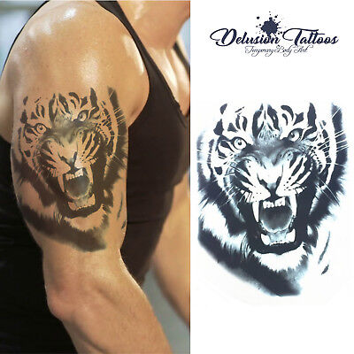 Tiger Temporary Tattoo - Realistic Transfer Waterproof Mens Womens Kids Fancy